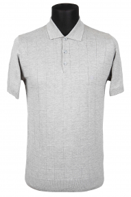 Рубашка поло Bosmenti 25566 (светло-серый)