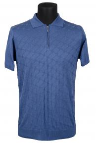 Рубашка поло мужская Mennsler 040510 (темно-голубой)
