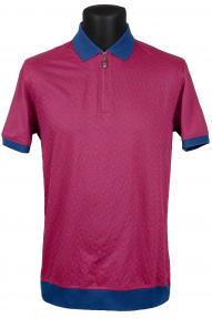 Рубашка поло Bosmenti 9670 (вишневый с принтом)