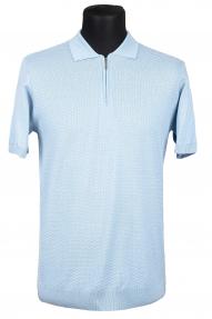 Рубашка поло Bosmenti 25202 (светло-голубая)