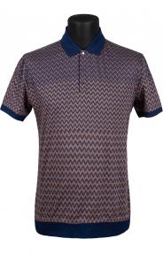 Рубашка поло Mennsler 020100 (коричневый/синий)