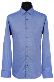 Сорочка Bazzelli 0070-3CRС (бело-синяя)