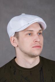 Кепка AIS восьмиклинка белая