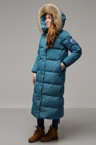 Пуховое пальто женское LAPLANGER Эстери (серо-голубой)