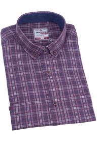 Рубашка мужская BIGNESS 010-2 (бордовый в клетку)