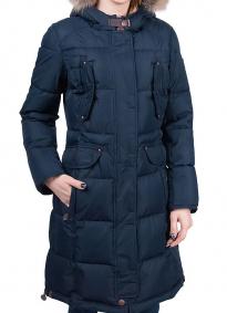 Куртка-аляска женская Scanndi DM19110 (темно-синяя)