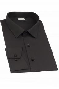 Сорочка мужская Genus Glad GP-015 FW (чёрный),приталенная
