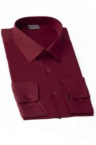 Сорочка мужская Genus Glad GP-076 FW (бордовый), приталенная