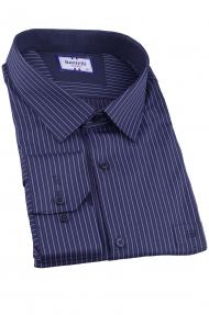 Сорочка мужская Bazzelli H4004-BT-1CRC (тёмно-синий)