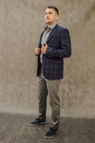 Мужской пиджак Carducci 25100 (тёмно-синий, клетка)