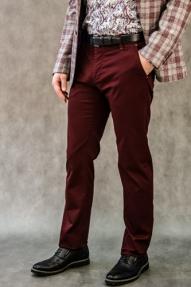 Мужские брюки Delspiga&Trousers (бордовый)