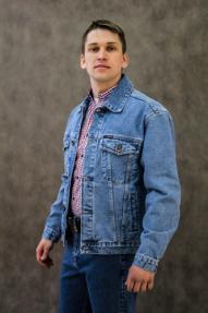 Мужская джинсовая куртка Dairos 601 (голубой)