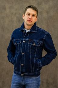 Мужская джинсовка Dairos 605 (синий, большие размеры)