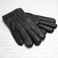 Перчатки мужские демисезонные (оленья кожа) 01