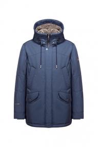 Куртка мужская зимняя North Bloom Леон BIG (атлантика) с искусственным мехом
