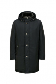 Куртка мужская зимняя North Bloom Лондон BIG (темно-синий) с искусственным мехом