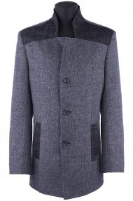 Пальто мужское демисезонное «Alexander» М-226 (тёмно-серый)