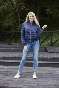 Куртка женская демисезонная SCANNDI CW 2950 (темно-синий)