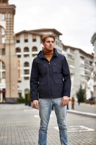 Куртка демисезонная мужская Scanndi BM29057 (темно-синий)