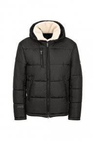 Куртка мужская зимняя North Bloom Памир (черный) с искусственным мехом