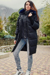 Куртка женская Scanndi DW19048 (темно-синяя)