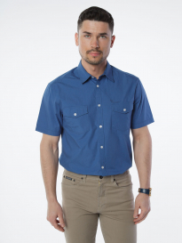 Рубашка муж. VELOCITY V48-66MS-06 (голубой)