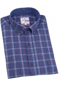 Рубашка мужская BIGNESS 010-3 (сине-голубая клетка)