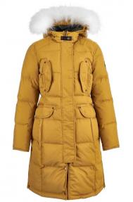 Куртка-аляска женская Scanndi DW19110 (горчица)