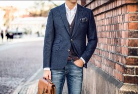 Как выбрать мужской пиджак под джинсы?